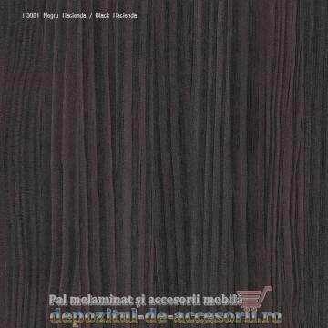 PAL Melaminat Negru Hacienda H3081-ST22