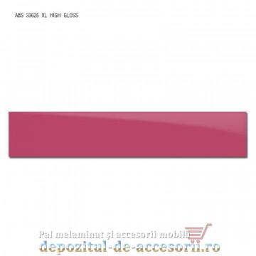 Cant ABS Roz 22mm x 1mm super lucios (high gloss)