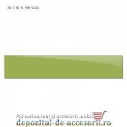 Cant ABS Verde 22mm x 1mm super lucios (High gloss)