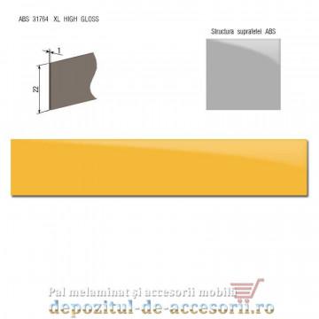 Cant ABS Galben 22mm x 1mm super lucios (high gloss)