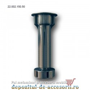 Picior plastic bucătărie H150 negru