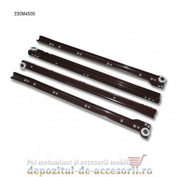 Glisiere cu role 450mm maro extragere parțială Blum 230M4500