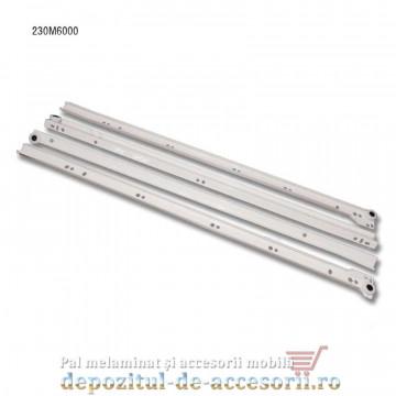 Glisiere cu role 600mm albe extragere parțială Blum 230M6000