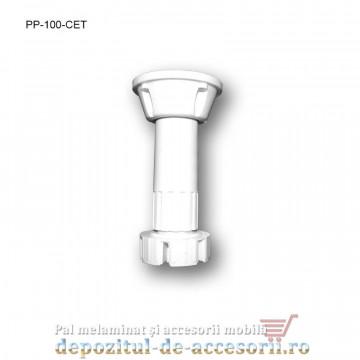 Picior plastic bucătărie H100 alb