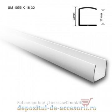 "Profil ""U"" aluminiu 18mm lungimea 3m SM 1055 K"
