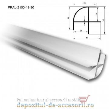 Profil îmbinare de colț semirotund 18mm lungimea 3m aluminiu