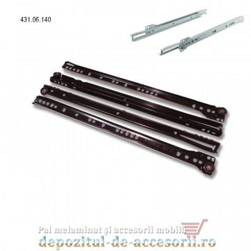 Glisiere cu role 400mm maro extragere parțială Hafele 431.06.140