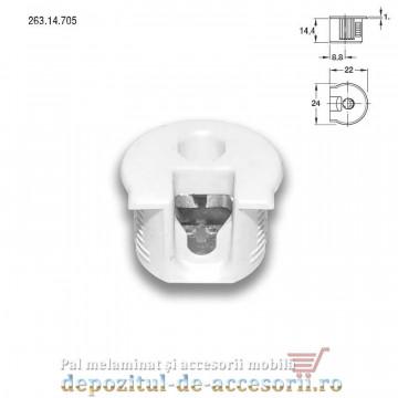 Demontabili Rafix incastrati Ø20mm plastic albi Hafele 263.14.705 cu bolt 263.20.141