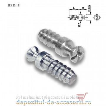 Demontabili Rafix incastrati Ø20mm plastic negru Hafele 263.14.305 cu bolt 263.20.141
