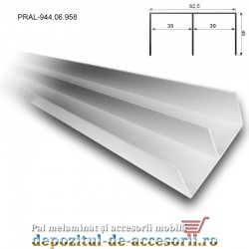 Set șine aluminiu pentru sisteme glisare Adoor 18 ECO Hafele