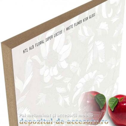 Panou MDF Alb floral 466 super lucios Stillay