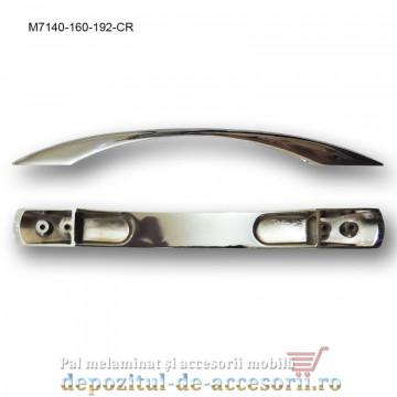 Mâner mobilier Cromat M7140-160-192-CR distanta intre gauri de 160mm si 192mm