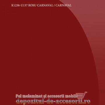 Panou MDF Acrilic Rosu carnaval super lucios Unilin high gloss K1238-U137-19-UNI
