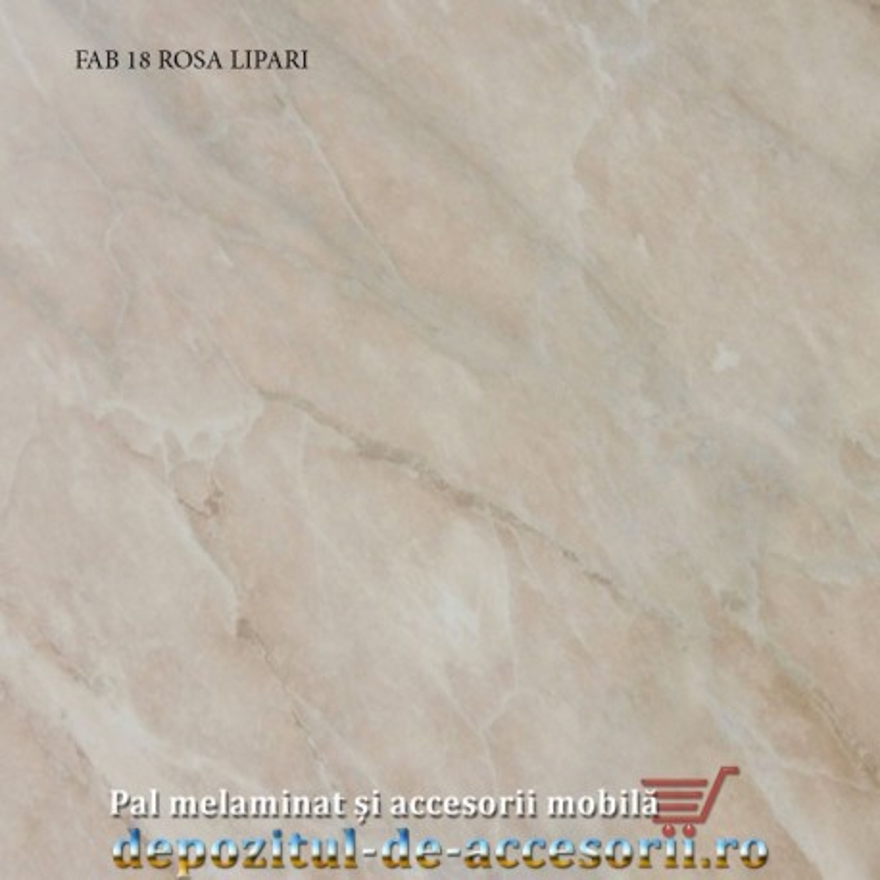 Blat de bucatarie lucios ROSA LIPARI dimensiuni 28x600x4200mm FAB 18 FAB Grup