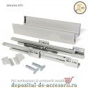 Sertar laterale metalice 450x83mm tip Tandembox extragere totală amortizare DTC