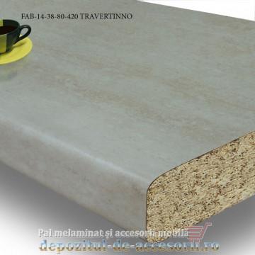 Blat de bucatarie mat TRAVERTINNO 38x800x4200mm FAB 14 FAB Grup blat de masa