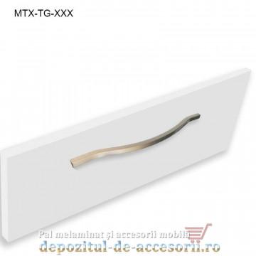 Maner mobilier MTX-TG-256, INOX 256mm, sampanie