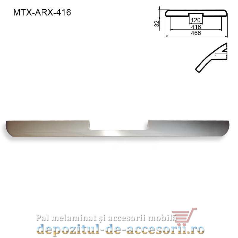 Maner mobilier MTX-ARX-416, INOX 416mm, sampanie