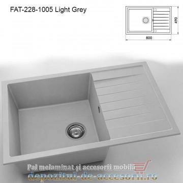 Mai multe despre Chiuveta cu o cuva Fatgranit compozit 228-1006 Grey