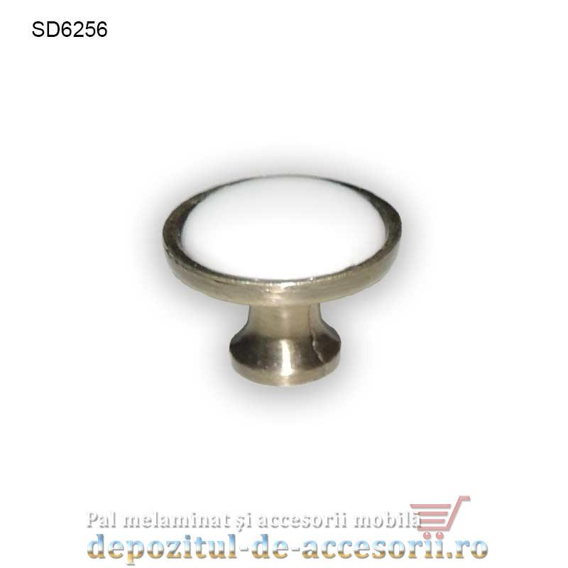 Buton antichizat ceramic alb SD6256 Ø32mm