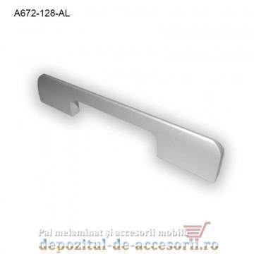 Mâner mobilier Aluminiu A672-128-AL Satinat