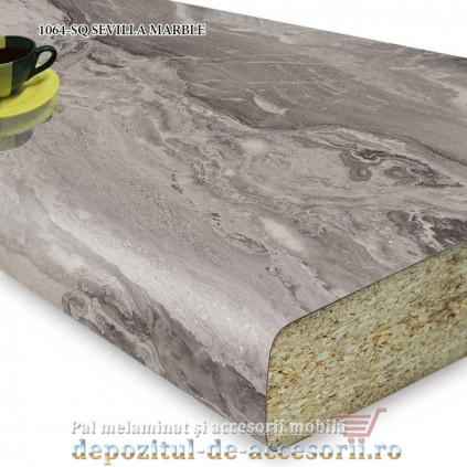 Blat bucătărie SEVILLA MARBLE 1064-SQ 38x600x4100 Krono Swiss