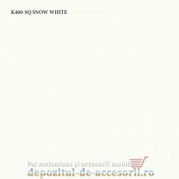 Blat bucatarie SNOW WHITE K400-SQ 38x600x4100 Krono Swiss
