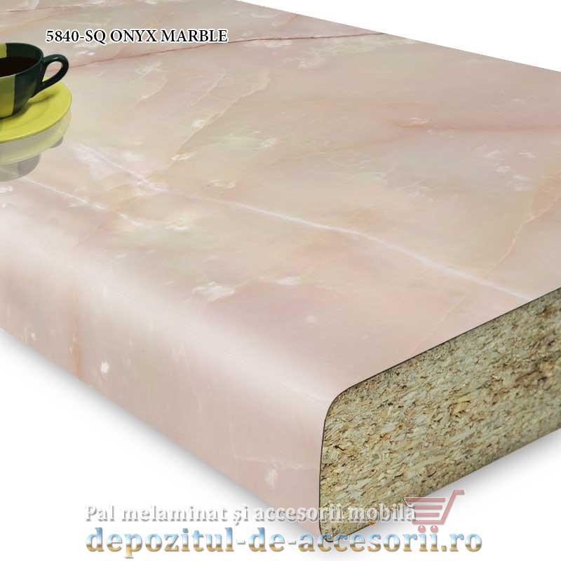 Blat bucatarie ONYX MARBLE 5840-SQ 38x600x4100 Krono Swiss