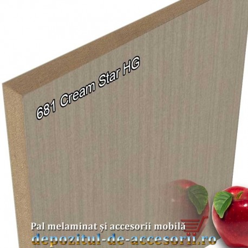 Panou MDF Cream Star super lucios 681 AGT HG